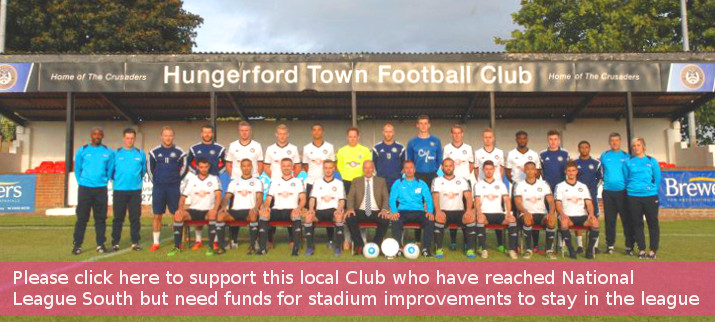 Hungerford Town Football team with text strip 2