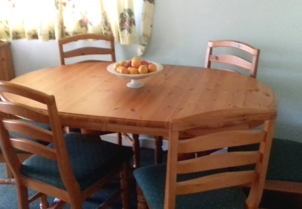 Pine Dining Table & Chairs for Sale
