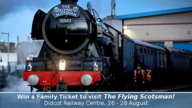 Railway Quiz to Win a Family Ticket to Visit The Flying Scotsman at Didcot – the Answers